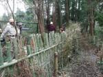 補修後の竹柵