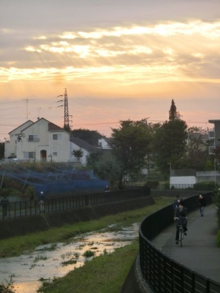 ②落合川-夕暮れ時