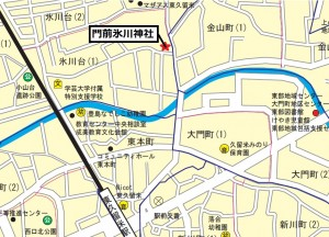 門前氷川神社地図
