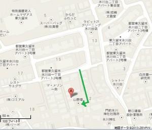 山野草地図(東京都東久留米市氷川台1-12-11)マーク有