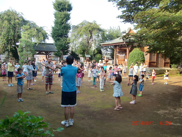 H26夏休みふれあいラジオ体操 (2)