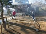 H271230門前氷川神社清掃作業 (1)