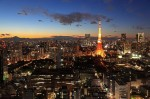 東京タワーと富士山